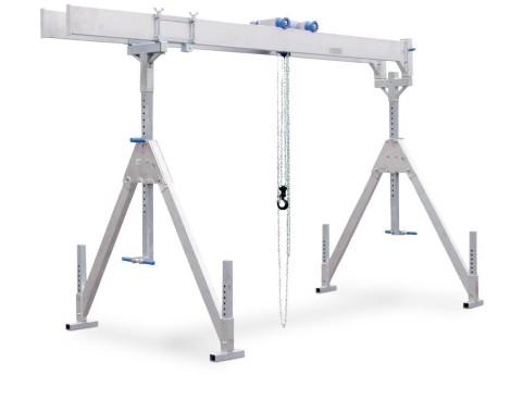 Grue à portique en aluminium avec double support