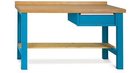 Schwere Werkbank Premium mit Schublade, TK 450 kg, HxBxT 800-1.100 x 1.500 x 700 mm
