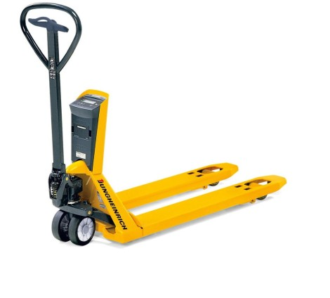 Jungheinrich AMW 22p weighing pallet truck with comfort display